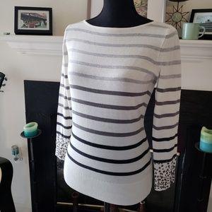 C. Wonder Striped Sweater with Rhinestone Sleeves